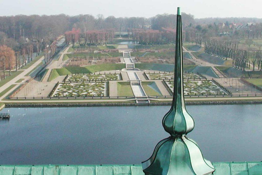 Frederiksborg slot, spir, haven