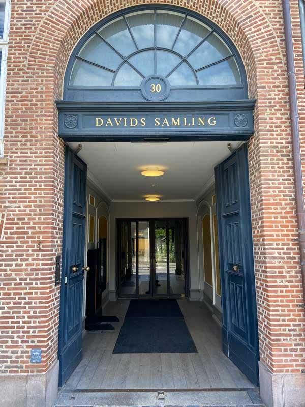 Davids Samling facade indgang